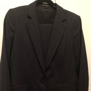 Navy blue theory suit. Size 10